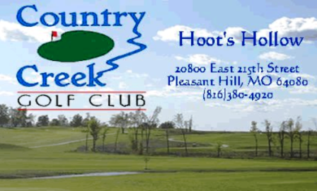 Golf Course Photo, Country Creek Golf Club, Hoot's Hollow Golf Course, Pleasant Hill, 64080