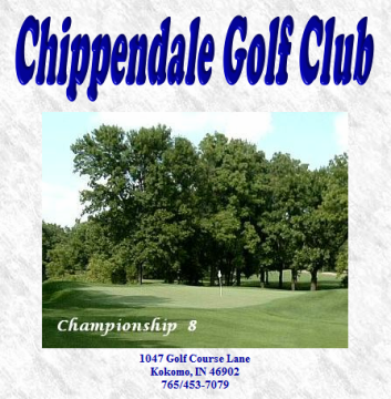 Chippendale Golf Course,Kokomo, Indiana,  - Golf Course Photo