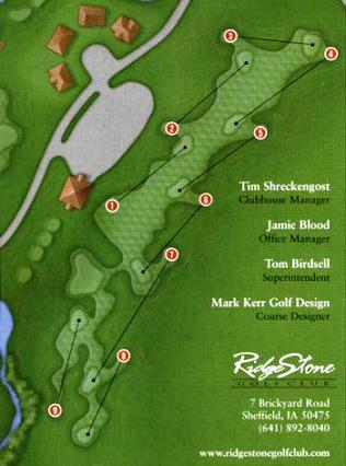 Ridge Stone Golf Club, Par 3, CLOSED 2012,Sheffield, Iowa,  - Golf Course Photo