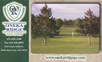 Golf Course Photo, Oneka Ridge Golf Course, White Bear Lake, 55110