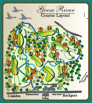Golf Course Photo, Goose River Golf Club, Rockport, 04856