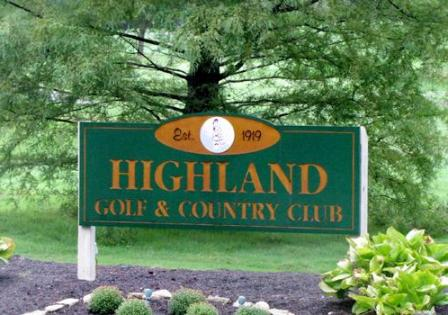 Golf Course Photo, Highland Golf & Country Club, Indianapolis, 46228