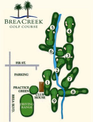 Golf Course Photo, Brea Creek Golf Course, Brea, 92821