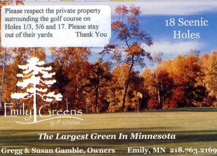 Emily Greens Golf Course, Executive,Emily, Minnesota,  - Golf Course Photo