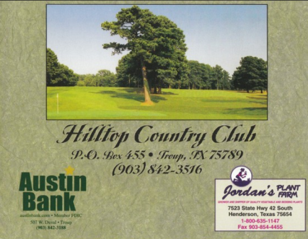 Hilltop Country Club,Troup, Texas,  - Golf Course Photo
