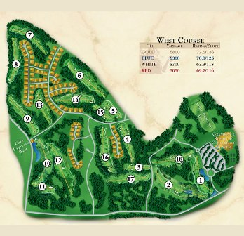 Grandover Resort -West, Greensboro, North Carolina, 27407 - Golf Course Photo