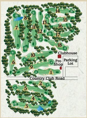 Waterville Country Club,Oakland, Maine,  - Golf Course Photo