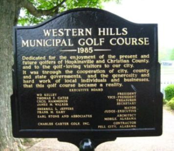 Western Hills Golf Course,Hopkinsville, Kentucky,  - Golf Course Photo