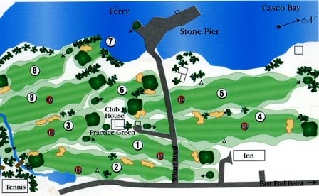 Great Chebeague Golf Club,Chebeague Island, Maine,  - Golf Course Photo