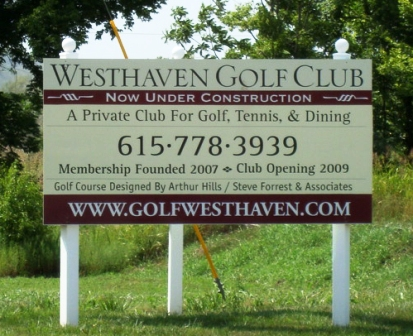 Golf Course Photo, Westhaven Golf Club, Franklin, 37064