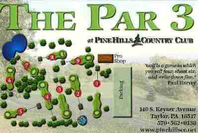 Pine Hills Country Club, Par 3 Course