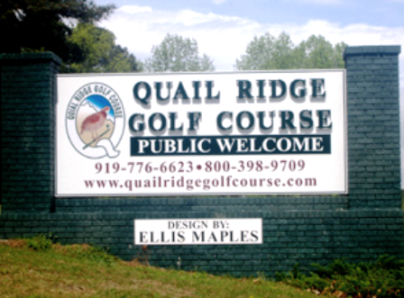 Golf Course Photo, Quail Ridge Country Club, Sanford, 27330