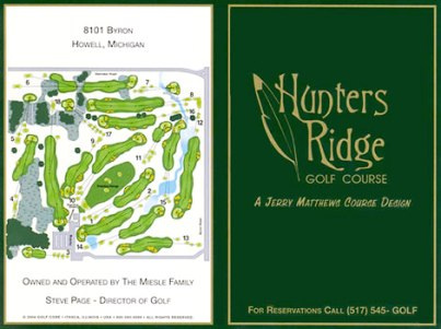 Golf Course Photo, Hunters Ridge Golf Course, Howell, 48843