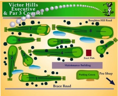 Victor Hills Golf Club -The Executive, Victor, New York, 14564 - Golf Course Photo