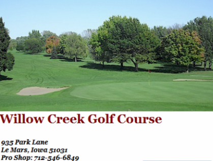 Willow Creek Golf Course,Le Mars, Iowa,  - Golf Course Photo