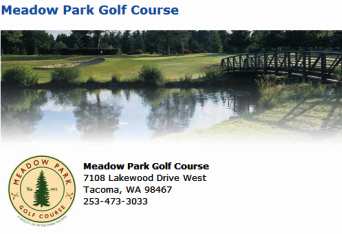 Golf Course Photo, Meadow Park Golf Course, Meadow Park, Tacoma, 98467