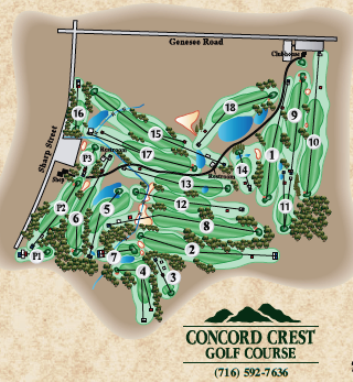 Golf Course Photo, Concord Crest Golf Course, East Concord, 14055