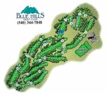 Blue Hills Golf Course,Roanoke, Virginia,  - Golf Course Photo