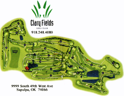 Golf Course Photo, Clary Fields Golf Course, CLOSED 2015, Sapulpa, 74066