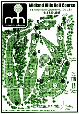 Midland Hills Golf Course CLOSED, Makanda, Illinois, 62958 - Golf Course Photo