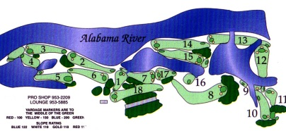 Cypress Tree Golf Course, River Course, CLOSED 2015,Maxwell AFB, Alabama,  - Golf Course Photo