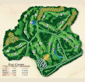 Grandover Resort -East, Greensboro, North Carolina, 27407 - Golf Course Photo