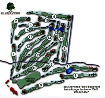 The Oaks at Sherwood, CLOSED 2013,Baton Rouge, Louisiana,  - Golf Course Photo