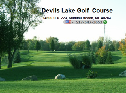 Golf Course Photo, Devils Lake Golf Course, Manitou Beach, 49253