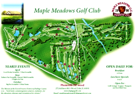 Maple Meadows Golf Course, Eighteen Hole,Wood Dale, Illinois,  - Golf Course Photo