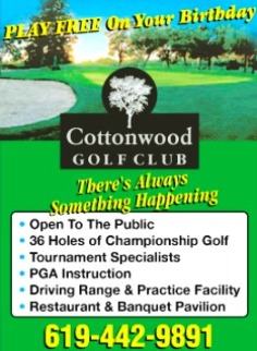Cottonwood At Rancho San Diego, Monte Vista,El Cajon, California,  - Golf Course Photo