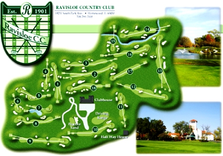 Ravisloe Country Club,Homewood, Illinois,  - Golf Course Photo