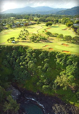 Makai Golf Course at Princeville at Hanalei,Kauai, Hawaii,  - Golf Course Photo