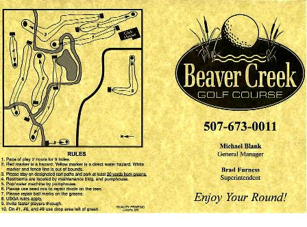 Beaver Creek Golf Course, CLOSED 2007,Beaver Creek, Minnesota,  - Golf Course Photo