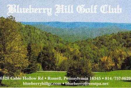 Golf Course Photo, Blueberry Hill Golf Club, Russell, 16345