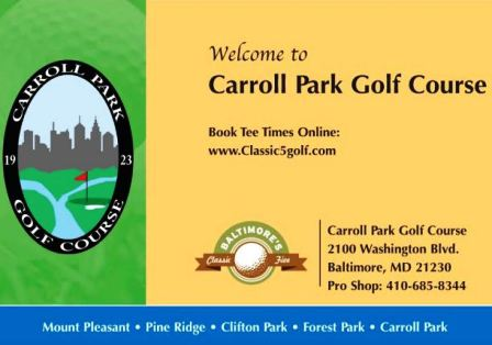 Carroll Park Golf Course,Baltimore, Maryland,  - Golf Course Photo