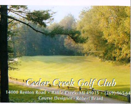 Golf Course Photo, Cedar Creek Golf Course, Battle Creek, 49015