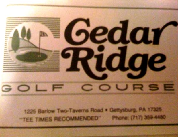 Cedar Ridge Golf Course,Gettysburg, Pennsylvania,  - Golf Course Photo