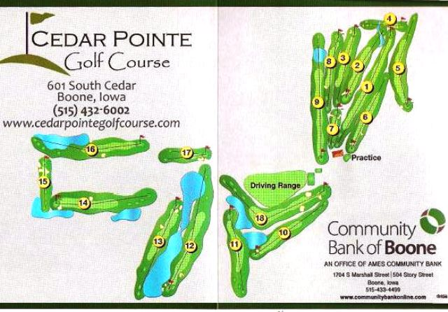 Golf Course Photo, Cedar Pointe Golf Course, Boone, Iowa, 50036