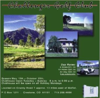 Challenger Golf Club, Los Cumbres Golf Course, Crestone, Colorado, 81131 - Golf Course Photo