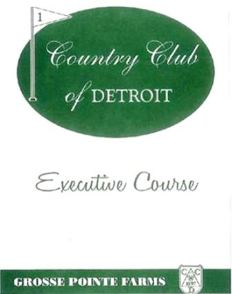 Country Club Of Detroit, Executive Course, Grosse Pointe Farms, Michigan, 48236 - Golf Course Photo