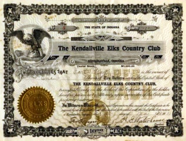 Elks Country Club,Kendallville, Indiana,  - Golf Course Photo