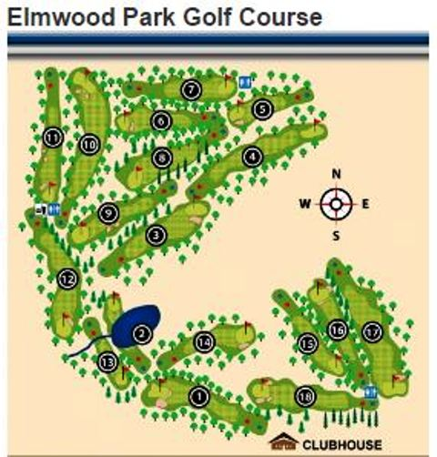 Elmwood Park Golf Course, Omaha, Nebraska, 68106 - Golf Course Photo