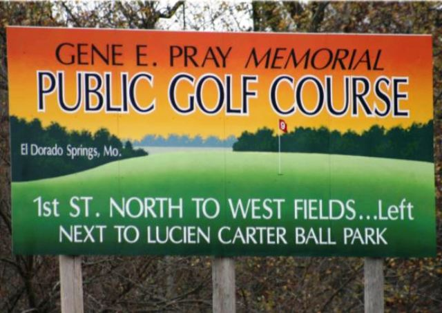 Gene Pray Memorial Golf Course, El Dorado Springs, Missouri,  - Golf Course Photo