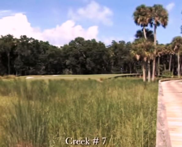 Golf Course Photo, Hammock Dunes Club, Creek Golf Course, Palm Coast, 32137