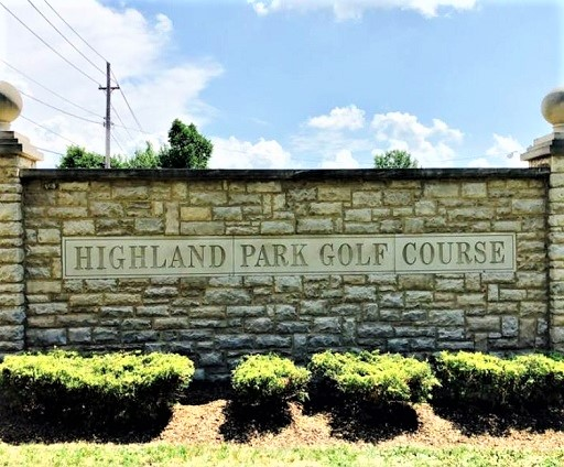Golf Course Photo, Highland Park Golf Course, Blue Course, Highland Hills, Ohio, 44122