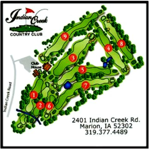 Golf Course Photo, Indian Creek Country Club, Marion, 52302