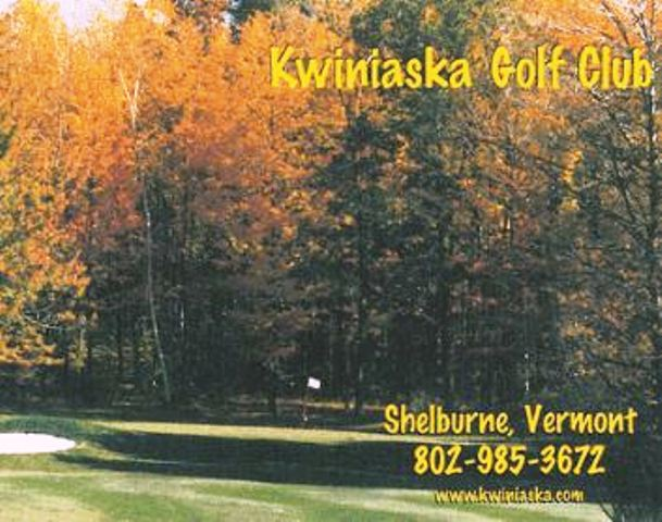 Kwiniaska Golf Club,Shelburne, Vermont,  - Golf Course Photo
