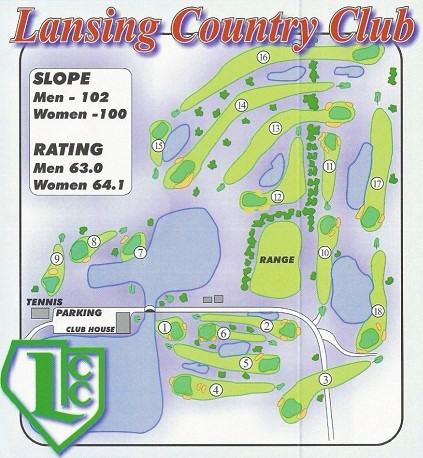 Lansing Country Club, Lansing, Illinois,  - Golf Course Photo