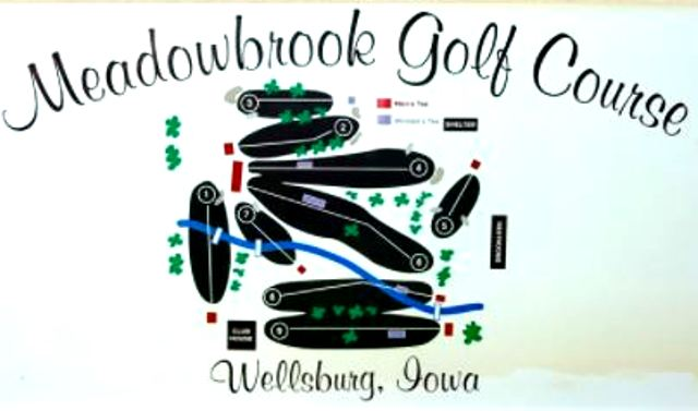 Golf Course Photo, Meadowbrook Golf Course, Wellsburg, Iowa, 50680