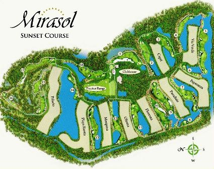 ... Palm Beach Gardens, Florida, 33418  . Country Club Of Mirasol, Sunset  Course